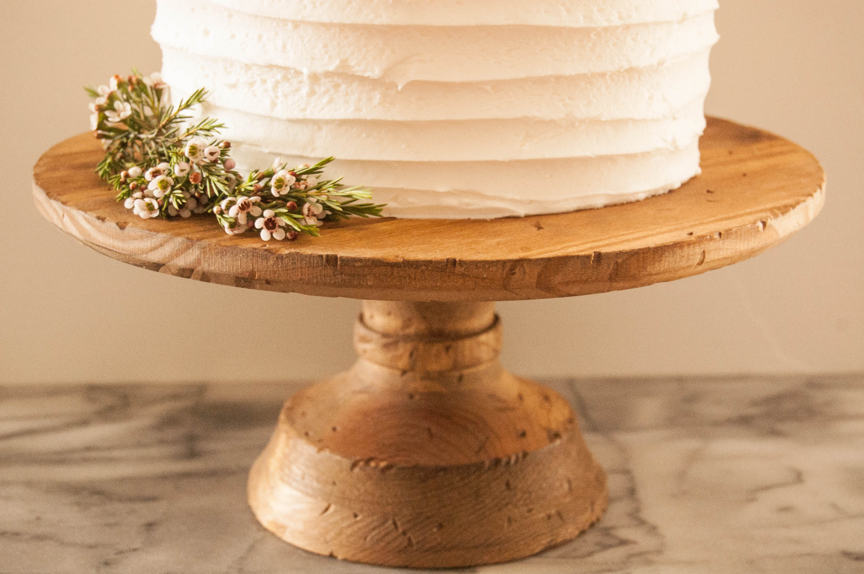 Stained Wood Cake Stand