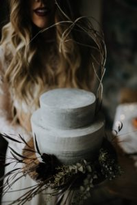 Concrete Buttercream Wedding Cake